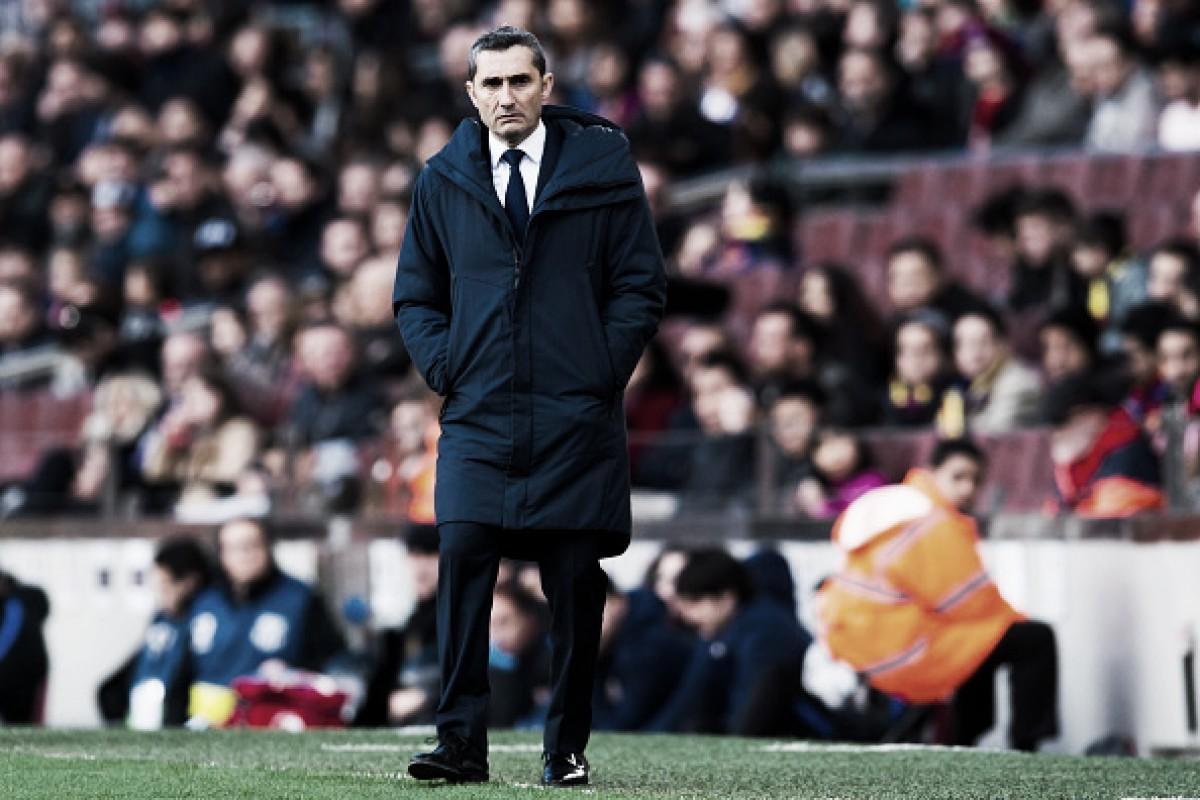 """Valverde se mostra orgulhoso com temporada do Barcelona: """"Estamos onde queríamos estar"""""""