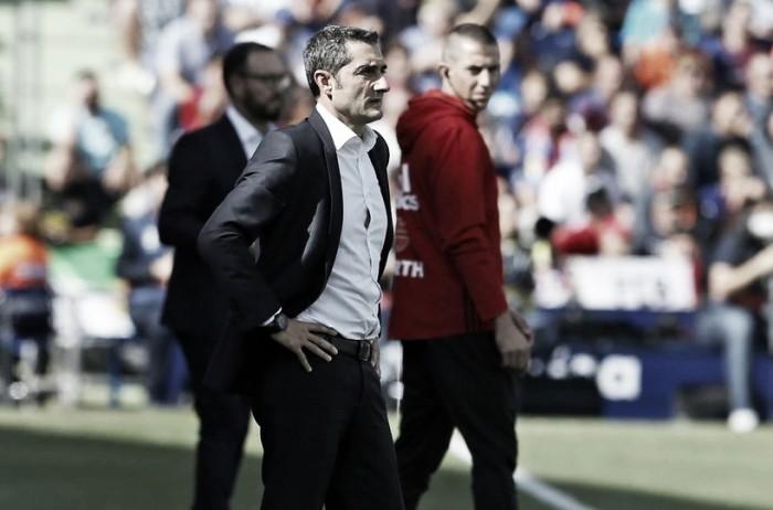 """Ernesto Valverde exalta elenco após virada do Barcelona: """"Elenco amplo com poder de reação"""""""