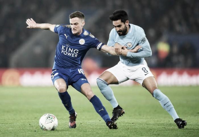 Vardy iguala no fim, mas Man City supera Leicester nos pênaltis e avança na Copa da Liga