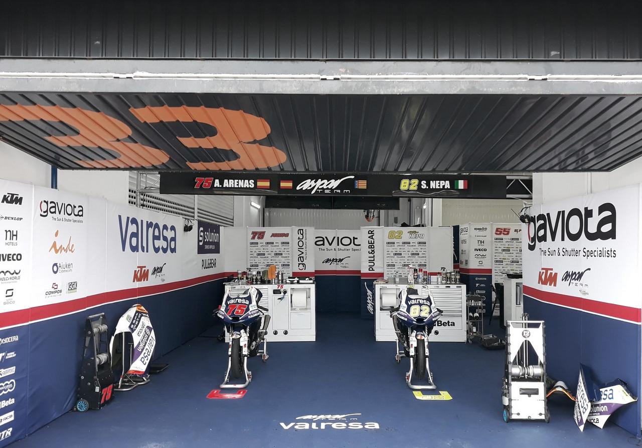 Box del Aspar Team en el Gran Premio de Europa / foto:twitter.com/AsparTeam