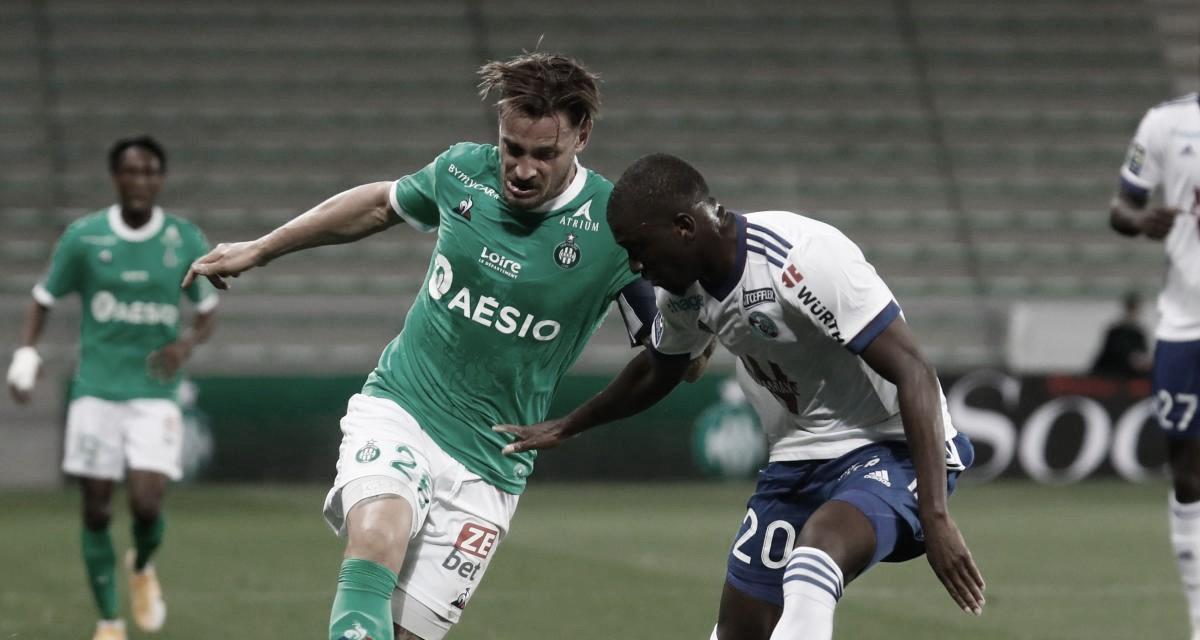 Saint-Étienne é eficiente e vence Strasbourg com dificuldades em casa