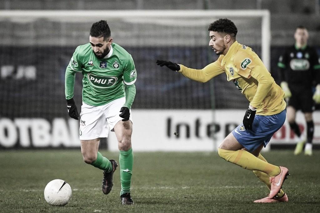 Saint-Étienne é eliminado pelo Sochaux da Copa da França; Angers tira Rennes