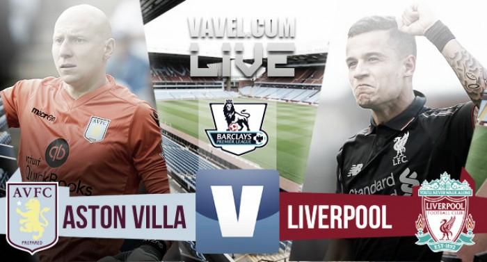 En vivo: Aston Villa vs Liverpool 2016 en Premier League (0-0)
