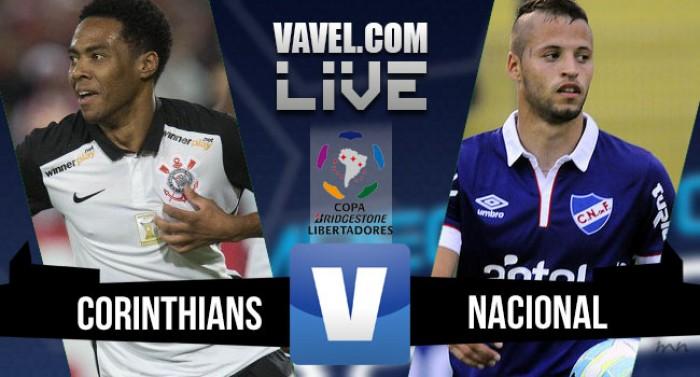 Resultado Corinthians x Nacional na Libertadores 2016 (2-2)
