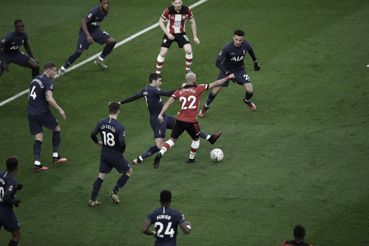 Southampton pressiona até o fim, mas Tottenham segura empate e leva decisão para Londres