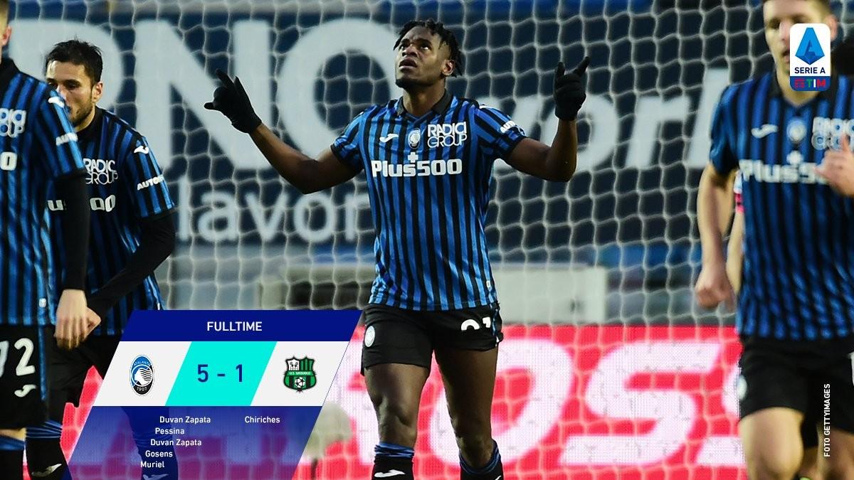 Serie A - Luna Park Atalanta: Sassuolo schiacciato 5-1