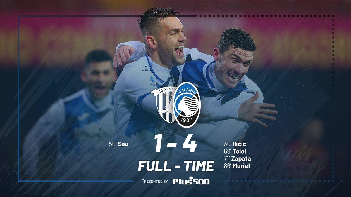 Serie A- Un ispirato Ilicic fa volare l'Atalanta, il Benevento si arrende (1-4)
