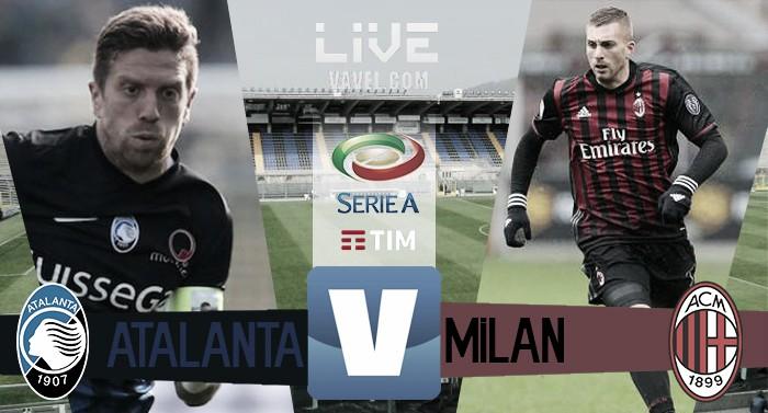 Terminata Atalanta - Milan in Serie A 2016/17 (1-1): Decidono Conti e Deulofeu ( negli ultimi minuti)