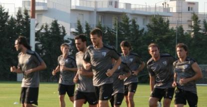 Primer entrenamiento en Atenas
