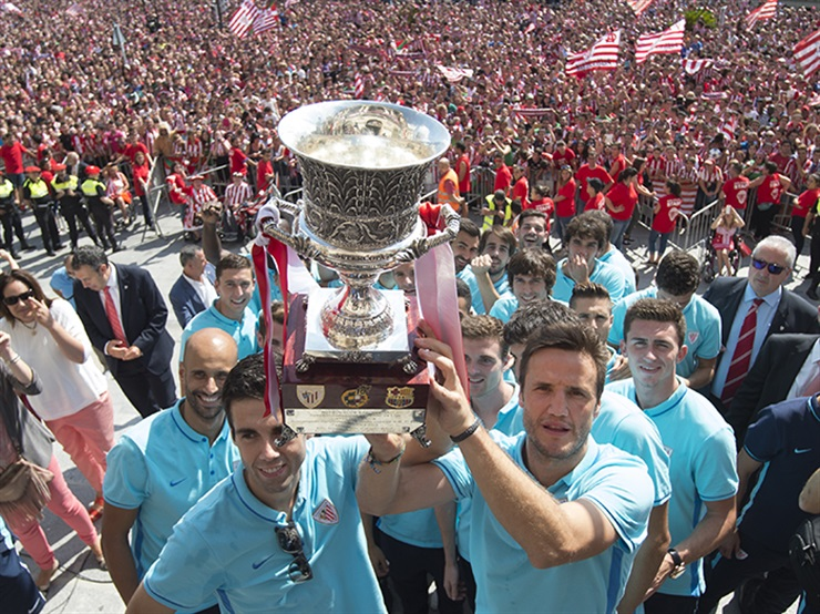 El Athletic club celebra la Supercopa de España conquistada en el 2015 / Fuente : Athletic Club