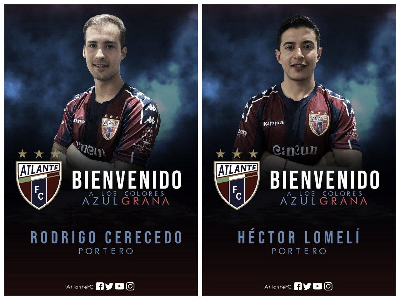 Rodrigo Cerecedo y Héctor Lomelí, los nuevos porteros rumbo al Apertura 2019