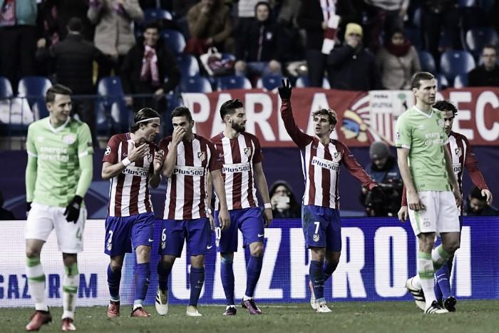 Champions League - Atleti primo con il fattore G: Gameiro e Griezmann superano il PSV (2-0)