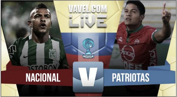 Resultado Atlético Nacional 3-0 Patriotas FC por cuartos de final de Copa Águila 2016