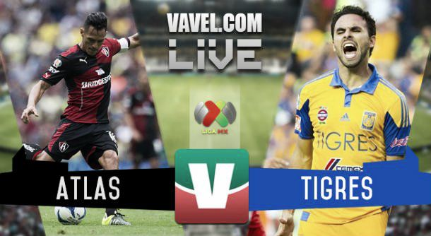 Resultado Atlas - Tigres en Liga MX 2015 (0-1)