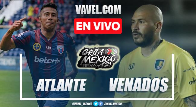 Goles y resumen del Atlante 2-1 Venados en Liga de Expansión MX