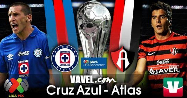 Resultado Cruz Azul - Atlas en Liga MX (1-3)