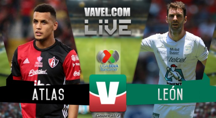 Atlas vs León en vivo online en Liga MX 2018 (1-2)