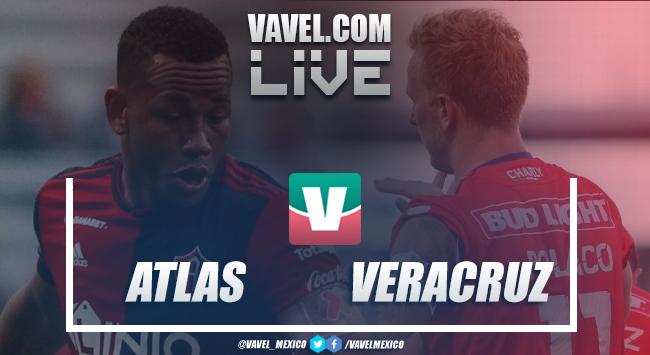 Resultado y goles del Atlas 4-3 Veracruz en Liga MX 2018