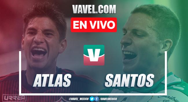 Resumen y goles Atlas 1-2 Santos en Apertura 2019 de la Liga MX