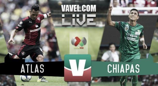 Resultado Atlas - Jaguares Chiapas en Liga MX 2015 (2-3)