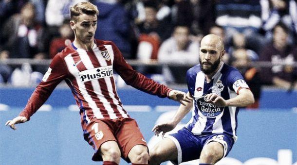 L'Atletico Madrid impatta a La Coruna: 1-1