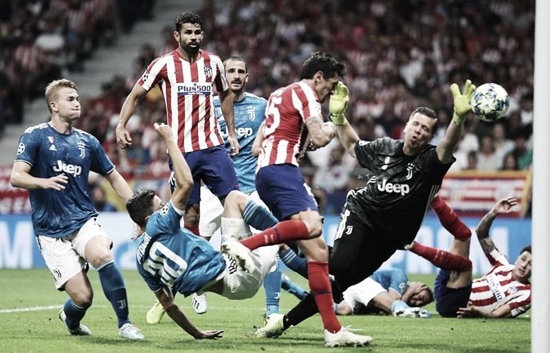 Em jogo eletrizante e com gol no final, Atlético de Madrid e Juventus ficam no empate