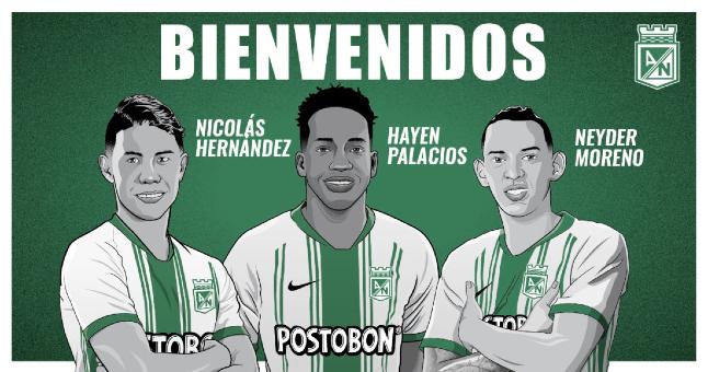 Atlético Nacional anuncia tres regresos para la temporada 2021