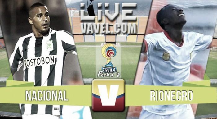En vivo: Atlético Nacional 1-0 Rionegro Águilas 2016 online en Liga Águila 2016-I