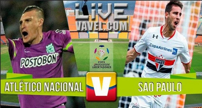 Resultado Atlético Nacional x São Paulo na Libertadores 2016 (2-1)