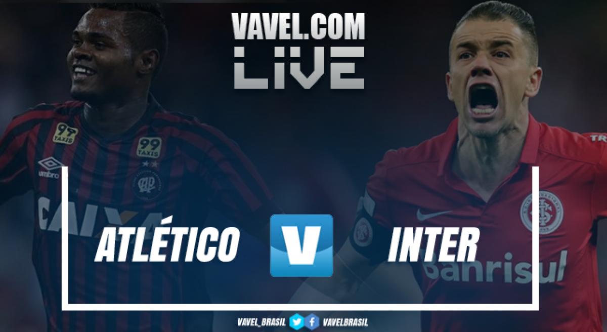 Resultado Atlético-PR 2 x 2 Inter pelo Campeonato Brasileiro 2018