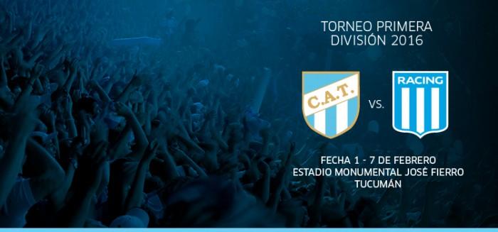 Resultado Atlético Tucumán - Racing (2-1)