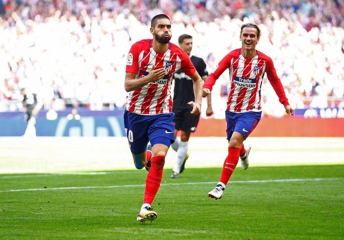 Carrasco et Griezmann, les deux buteurs de cette rencontre. (Twitter: @Atleti_France