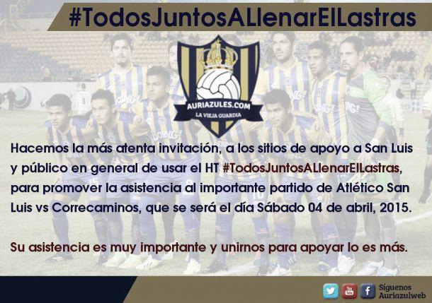 Lanzan la campaña #TodosJuntosALlenarElLastras