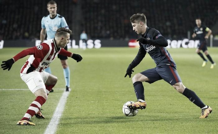 Un eroico PSV resiste in dieci di fronte all'Atletico Madrid. Pari a reti bianche