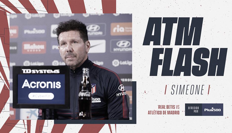 """Simeone: """"Nosotros siempre jugamos contra todo y contra todos"""""""