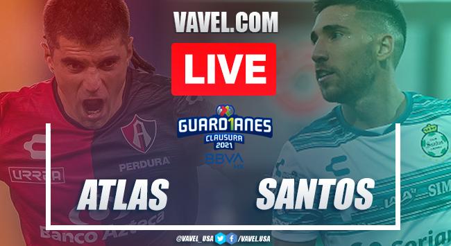 Goals and Highlights: Atlas 1-1 Santos on Liga MX 2021
