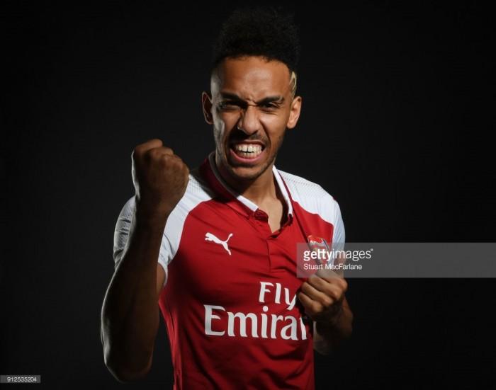Arsenal complete club-record transfer of Pierre-Emerick Aubameyang