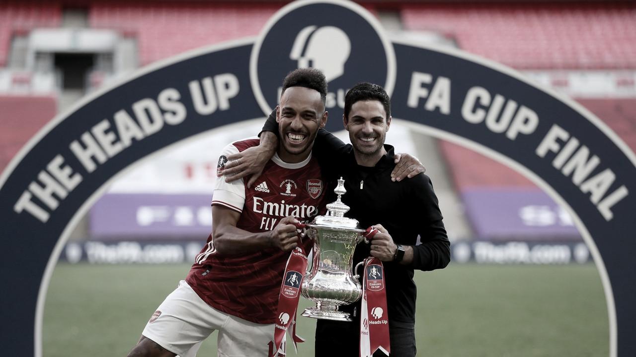 Arteta elogia Aubameyang e agradece Guardiola após conquista do Arsenal na FA Cup