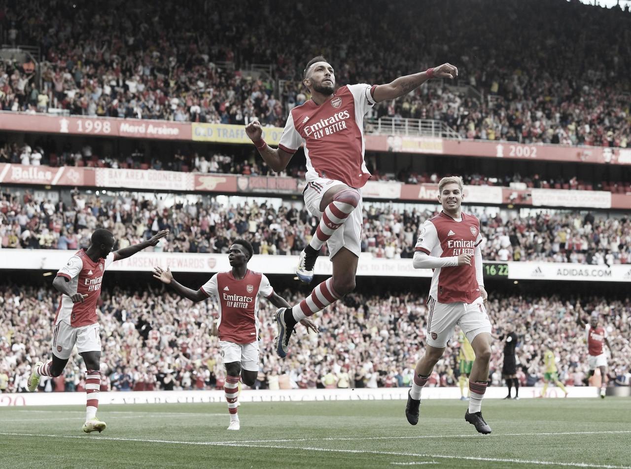 Com gol suado, Arsenal vence Norwich e sai da lanterna da Premier League