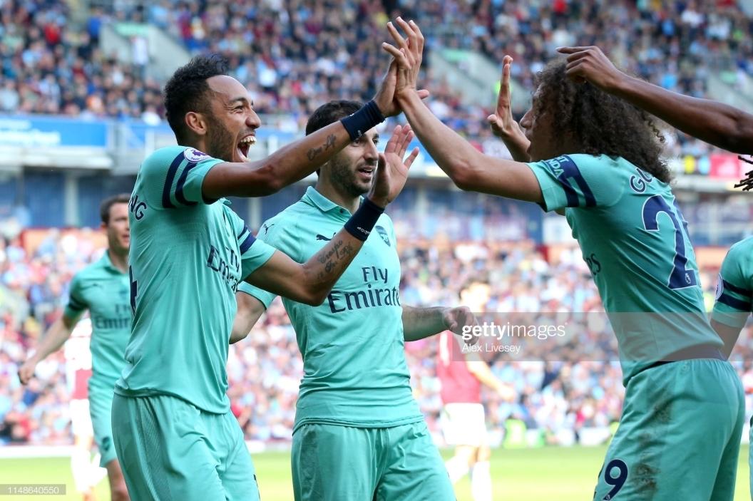 Burnley 1-3 Arsenal: Aubameyang scores twice to share golden boot