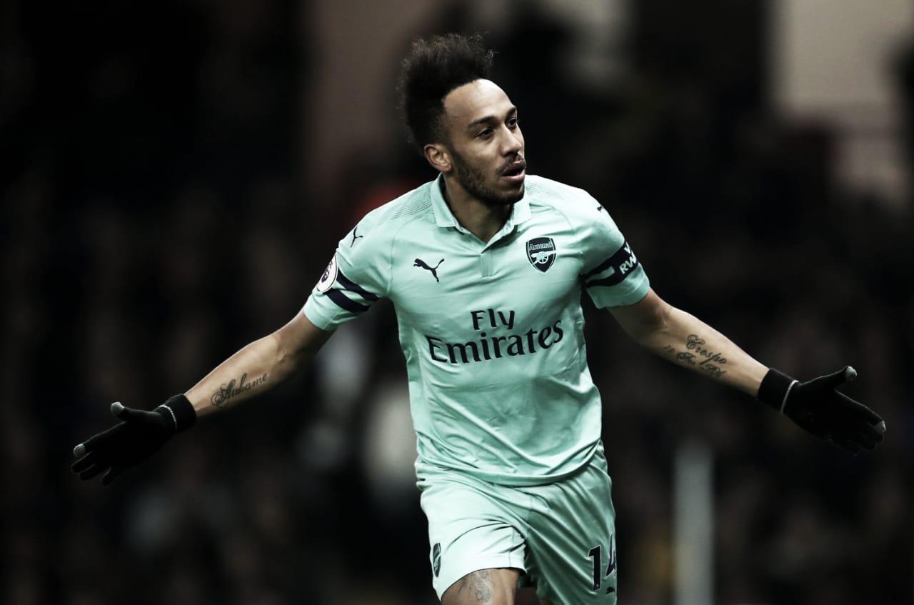 Com gol de Aubameyang, Arsenal derrota Watford e entra no G-4 do Inglês