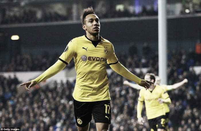Tottenham Hotspur (1) 1-2 (5) Borussia Dortmund: Aubameyang on fire again as Lilywhites crash out