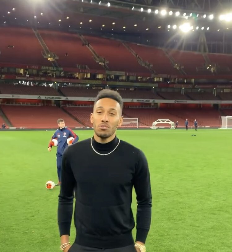 EXCLUSIVE: Arteta holds surprise Emirates training session after Arsenal beat Everton - cheered on by star striker Aubameyang
