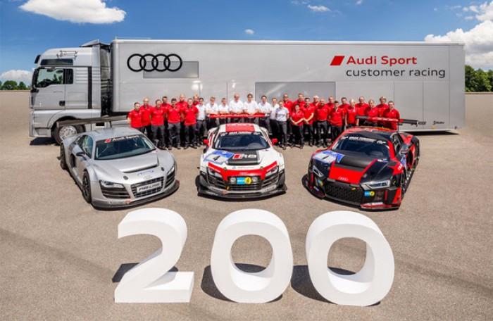 Audi comemora 200 R8 LMS GT3 produzidos