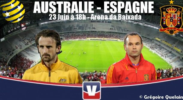 Australie - Espagne, ne pas repartir du Mondial avec 0 point