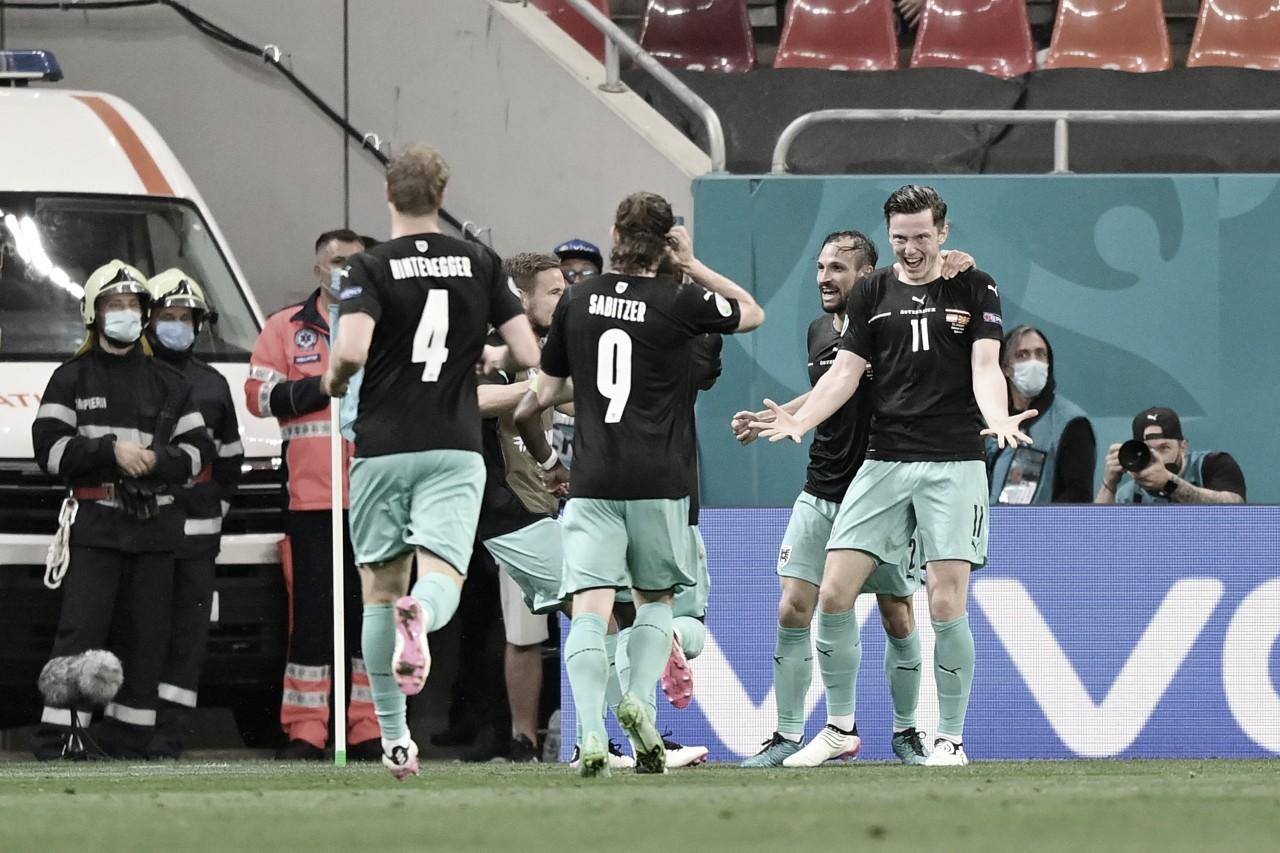Áustria bate estreante Macedônia do Norte e vence primeira na história da Eurocopa