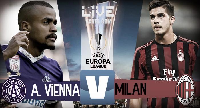 Austria Vienna - Milan in diretta, LIVE Europa League 2017/2018 (1-5): Pokerissimo dei rossoneri