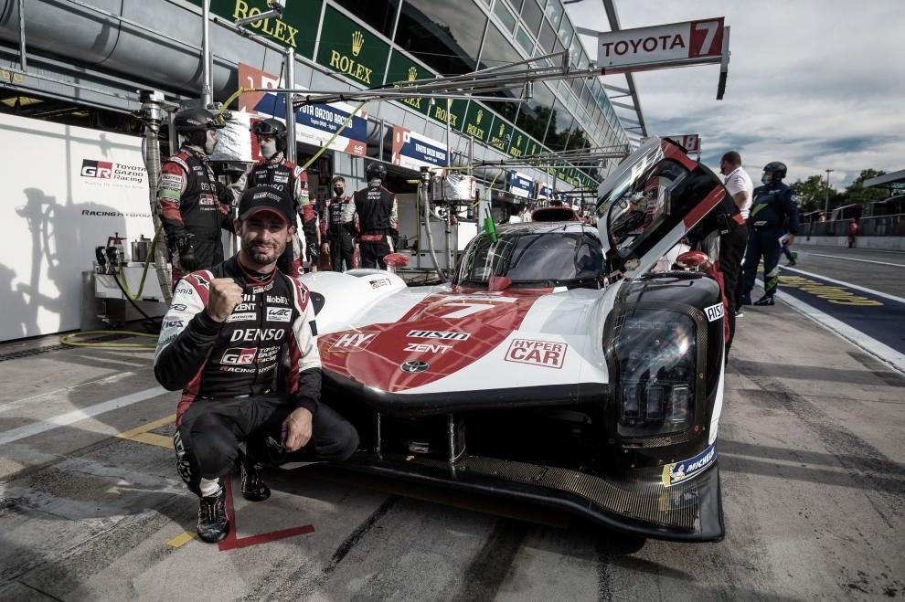 Pechito en la pole de Monza