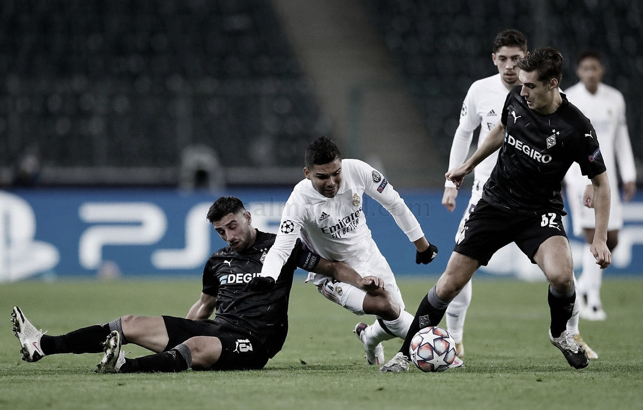 Casemiro marcó su sexto gol en Champions contra el Monchengladbach | Foto: Real Madrid