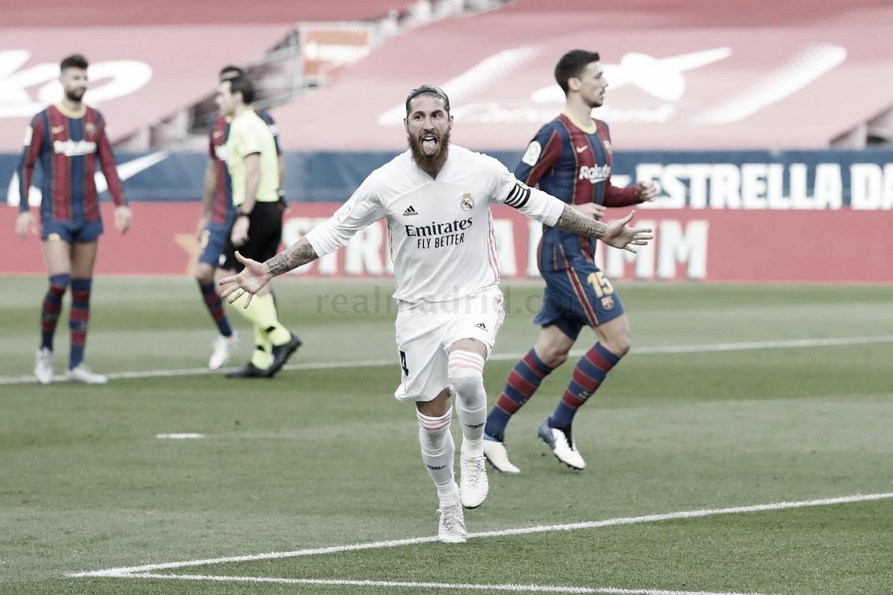 Sergio Ramos jugaba su Clásico liguero número 31, igualando a Gento y a Raúl | Foto: Real Madrid